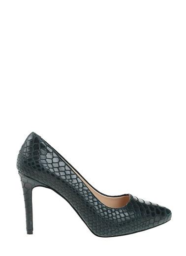D by Divarese %100 Deri Topuklu Ayakkabı Yeşil